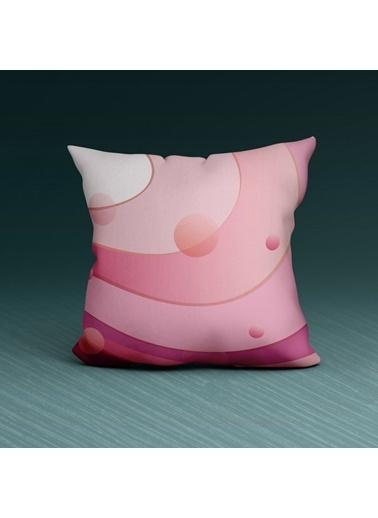 Artikel Pembenin Tonları Dekoratif Çift Taraflı Yastık Kırlent Kılıfı 45x45 cm Renkli